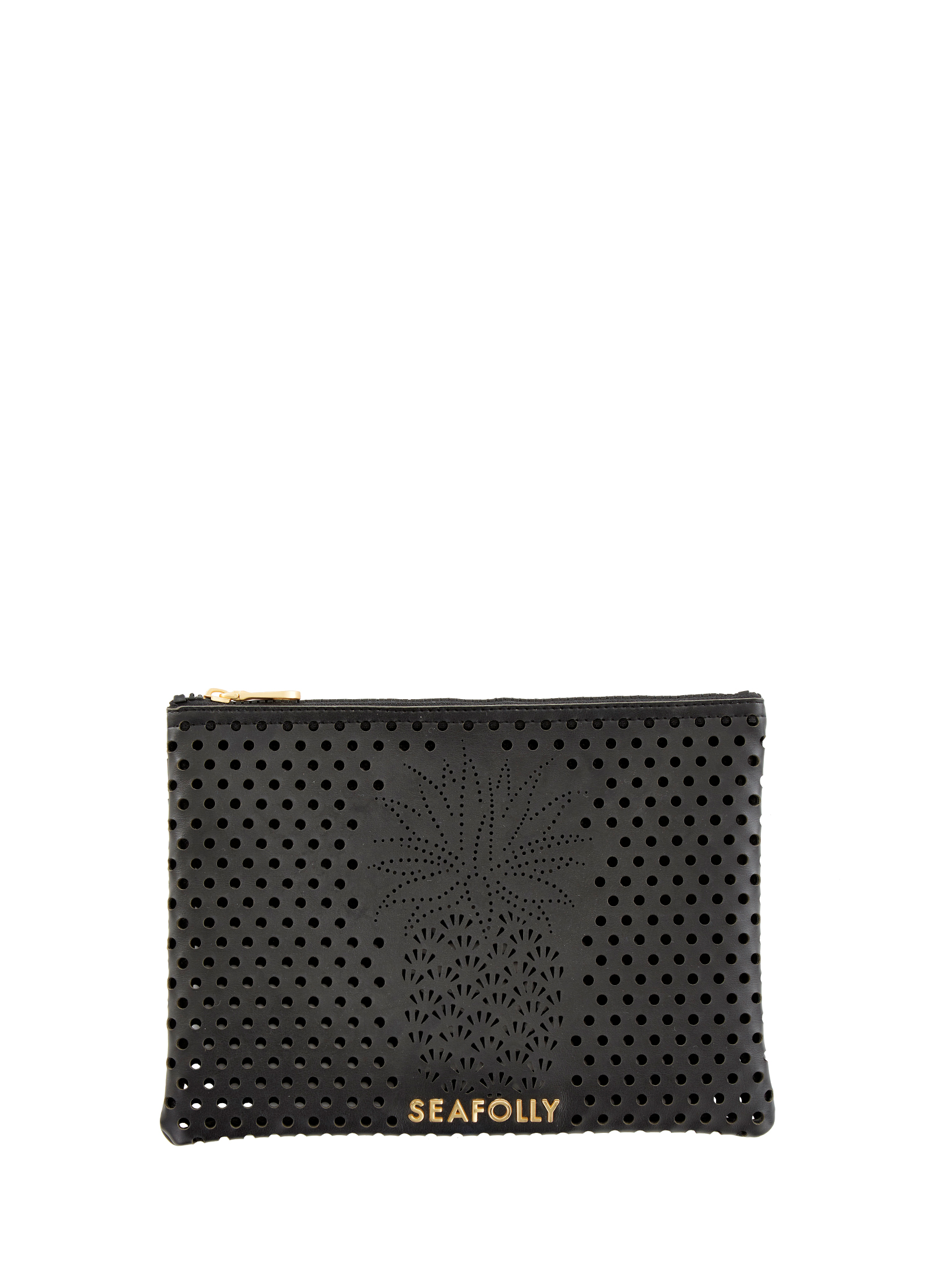 Seafolly Carried Away Pineapple Clutch - Black