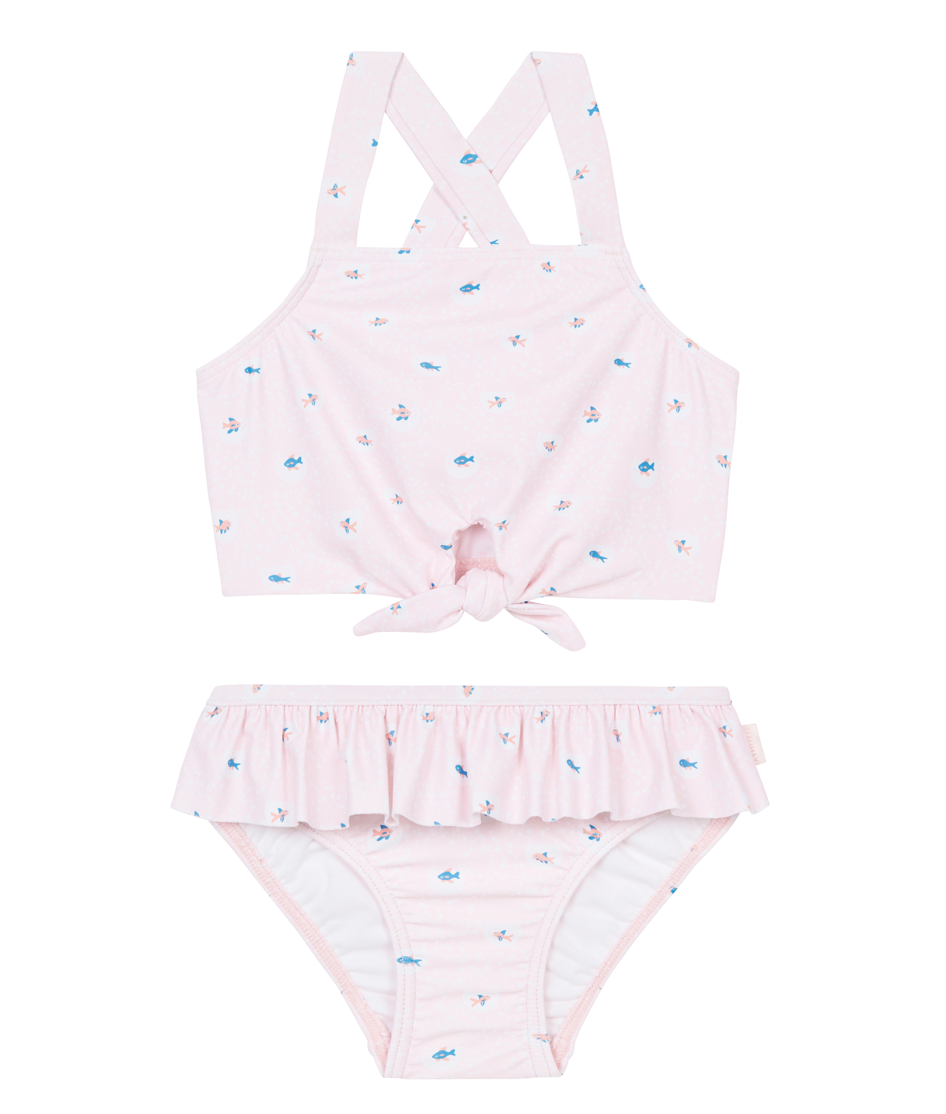Seafolly Kids Little Village In Como Fish Tie Front Tankini