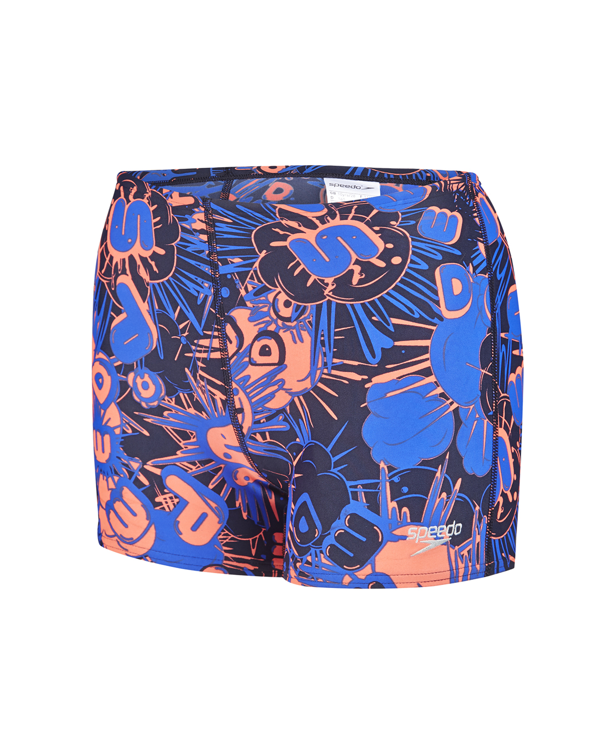 Speedo Boys Allover Aquashort - Navy/Orange