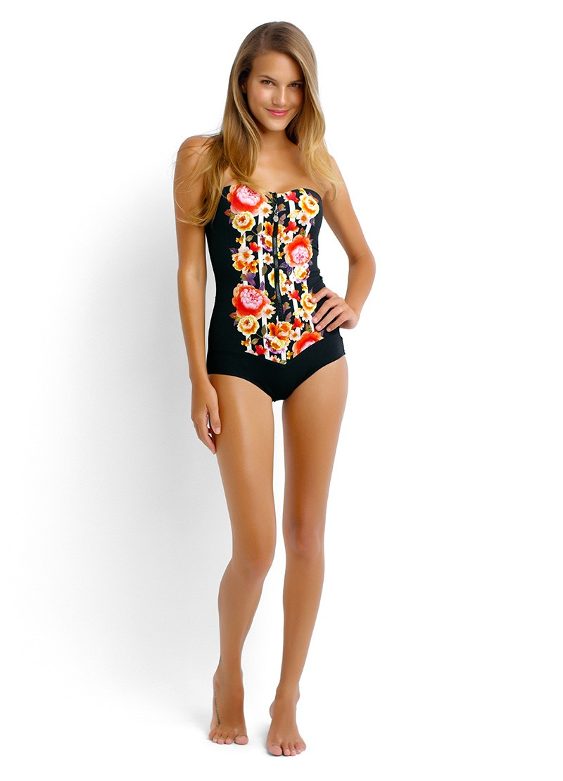 Seafolly Romeo Rose zip front costume