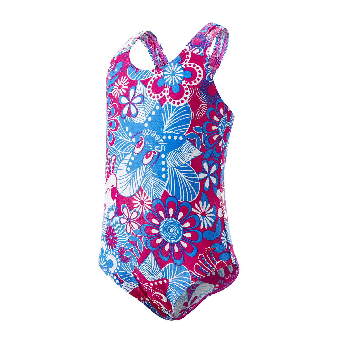 Speedo Toddler Girls Fantasy Flowers Essential Allover 1 Piece