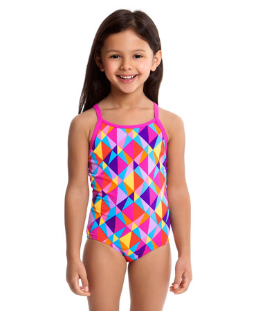 Funkita Toddler Girls Prism Collision Printed One Peice