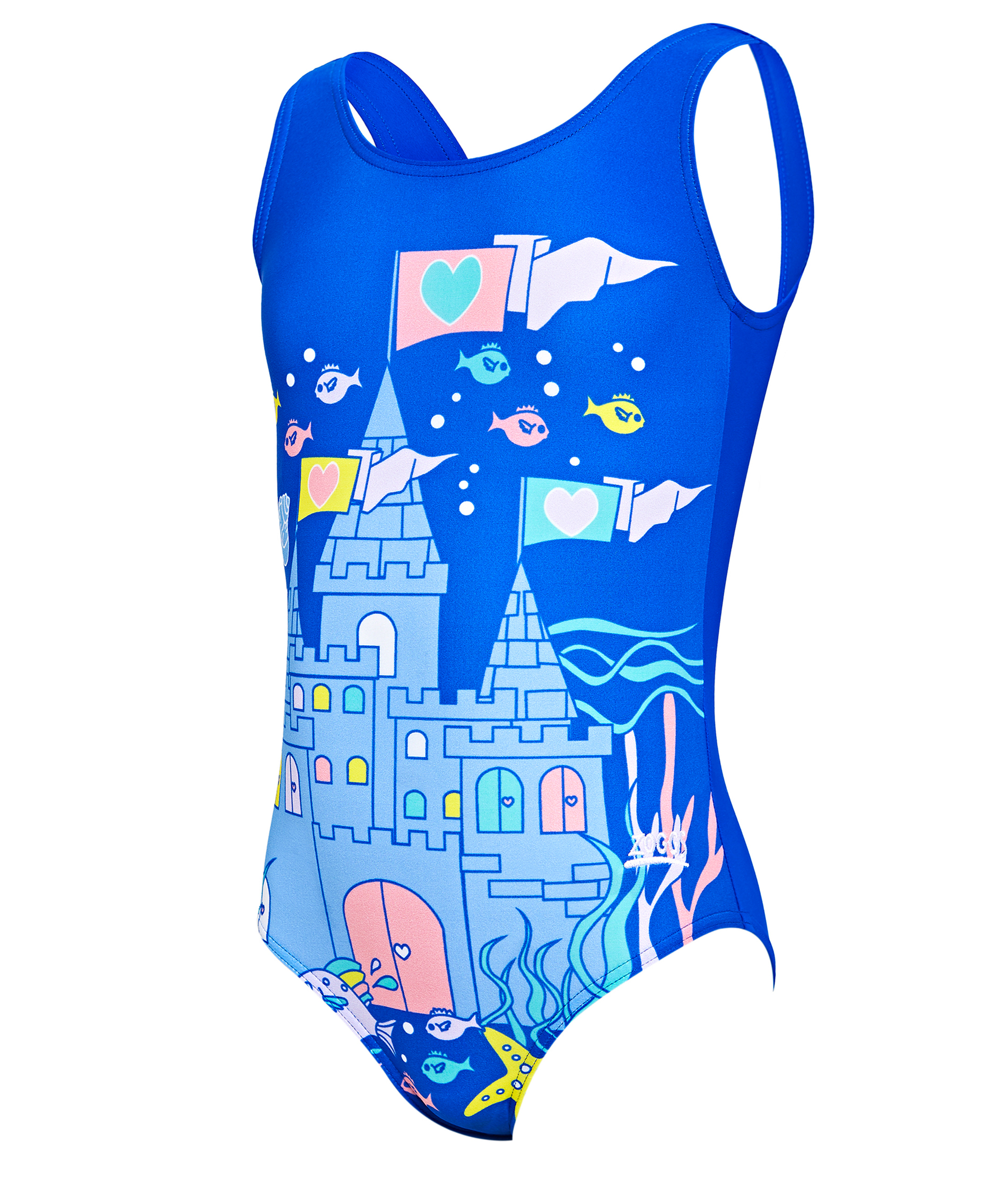 Zoggs Toddler Girls Undersea Scoopback Swimsuit