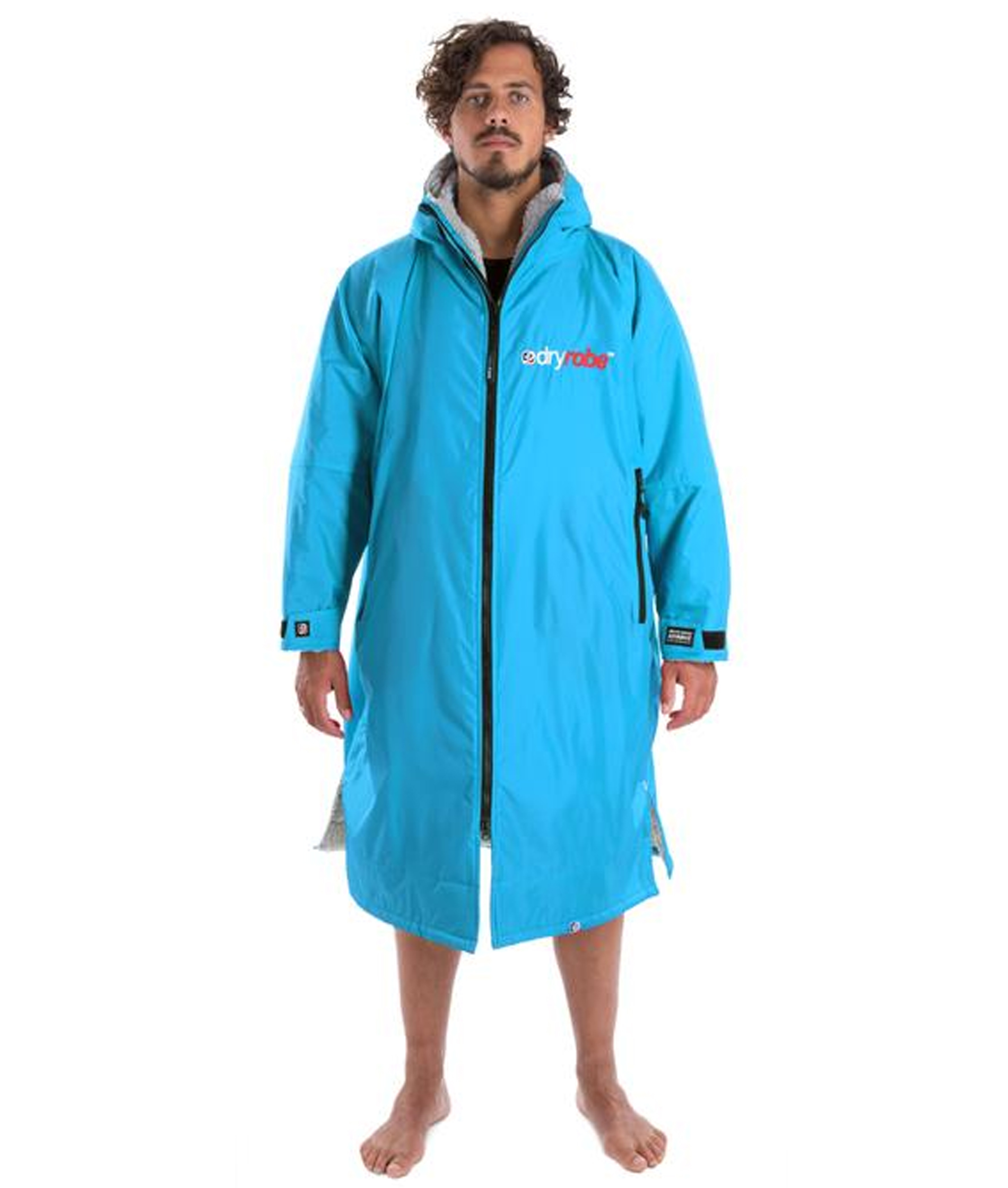 Dryrobe Advance Long Sleeve Sky Blue/Grey - Medium