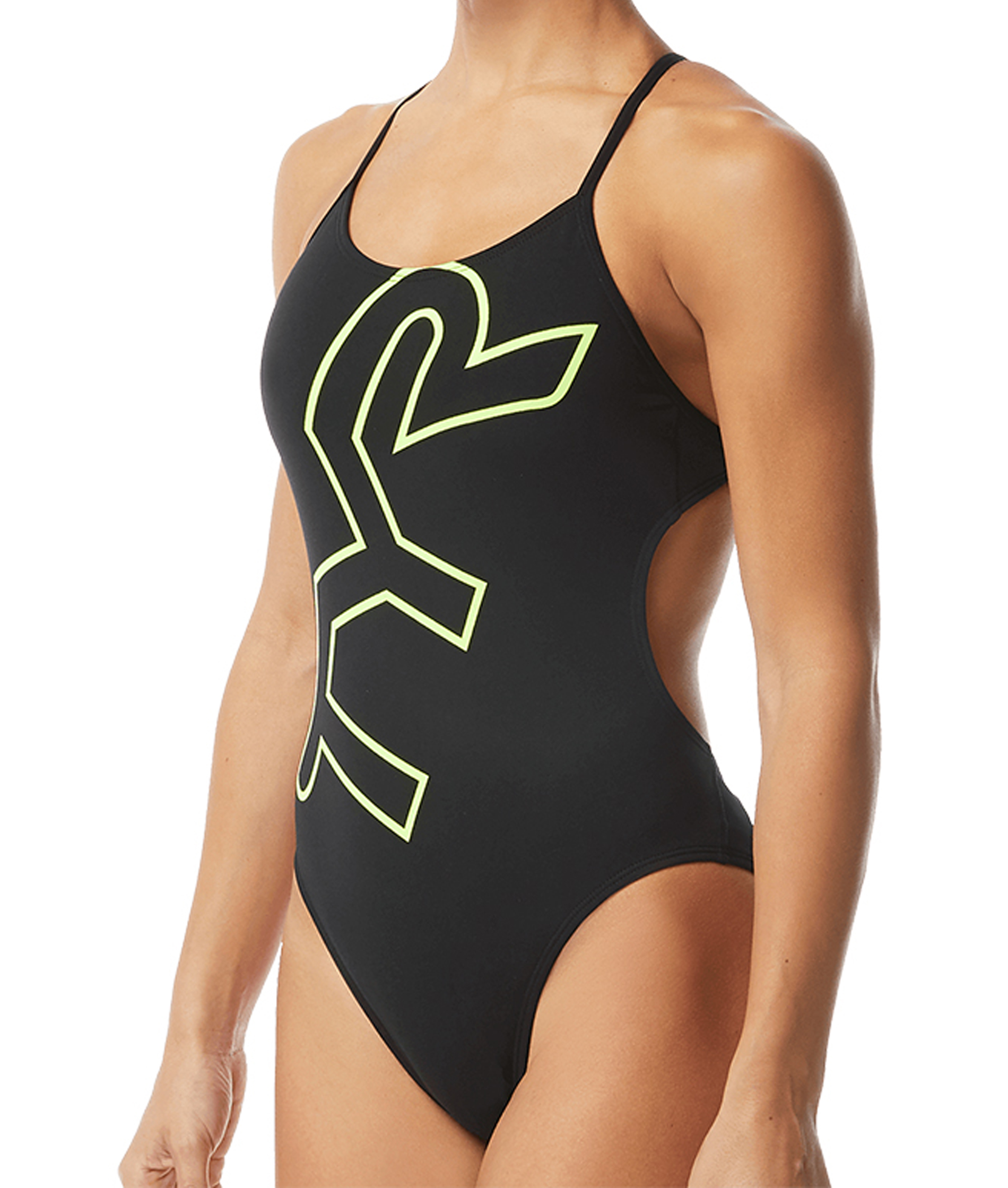 TYR Womens Big Logo Cutofutfit Swimsuit
