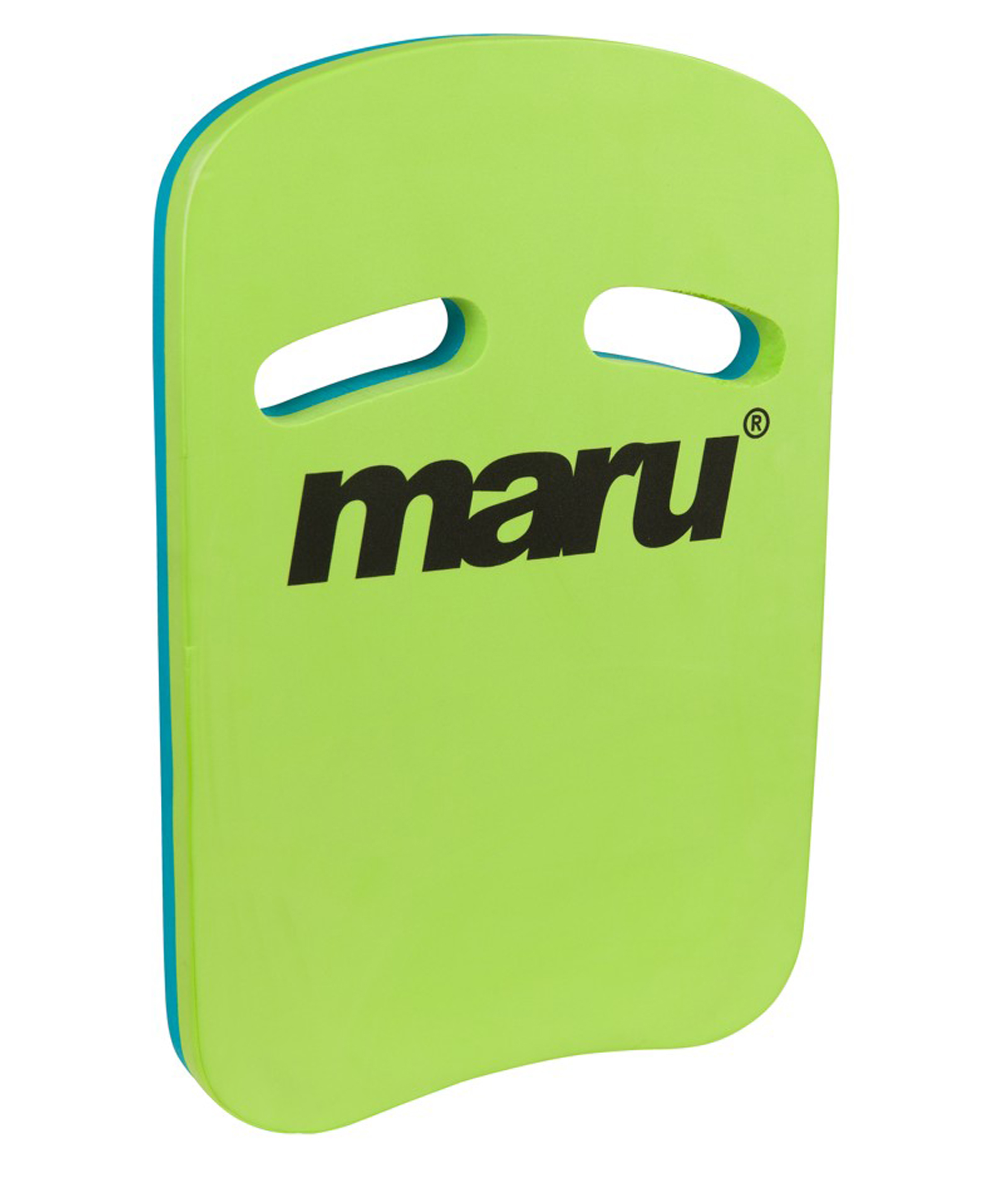 Maru Two Grip Fitness Kickboard - Lime/Blue
