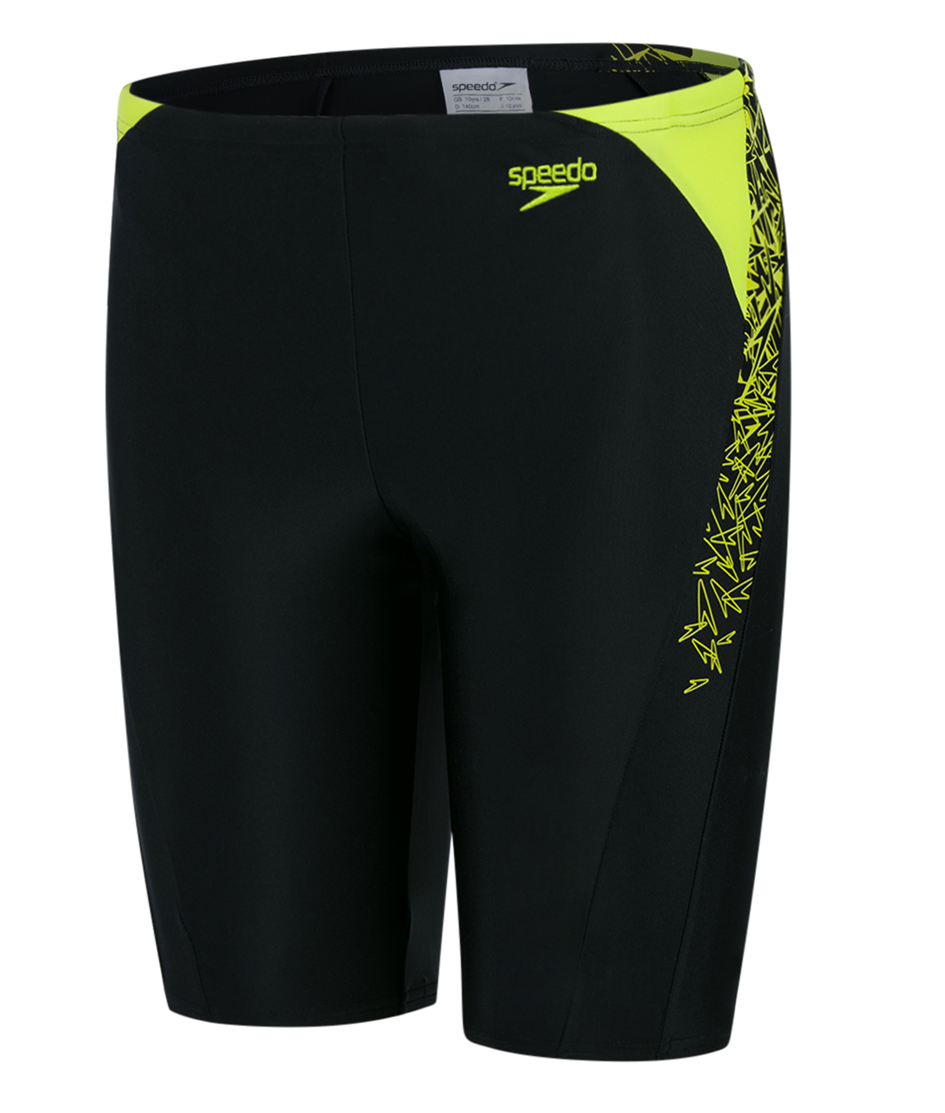 Speedo Boys Boom Splice Jammer - Black/Green