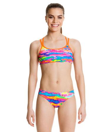 Funkita Girls Hot Wash Criss Cross Back Two Piece Bikini