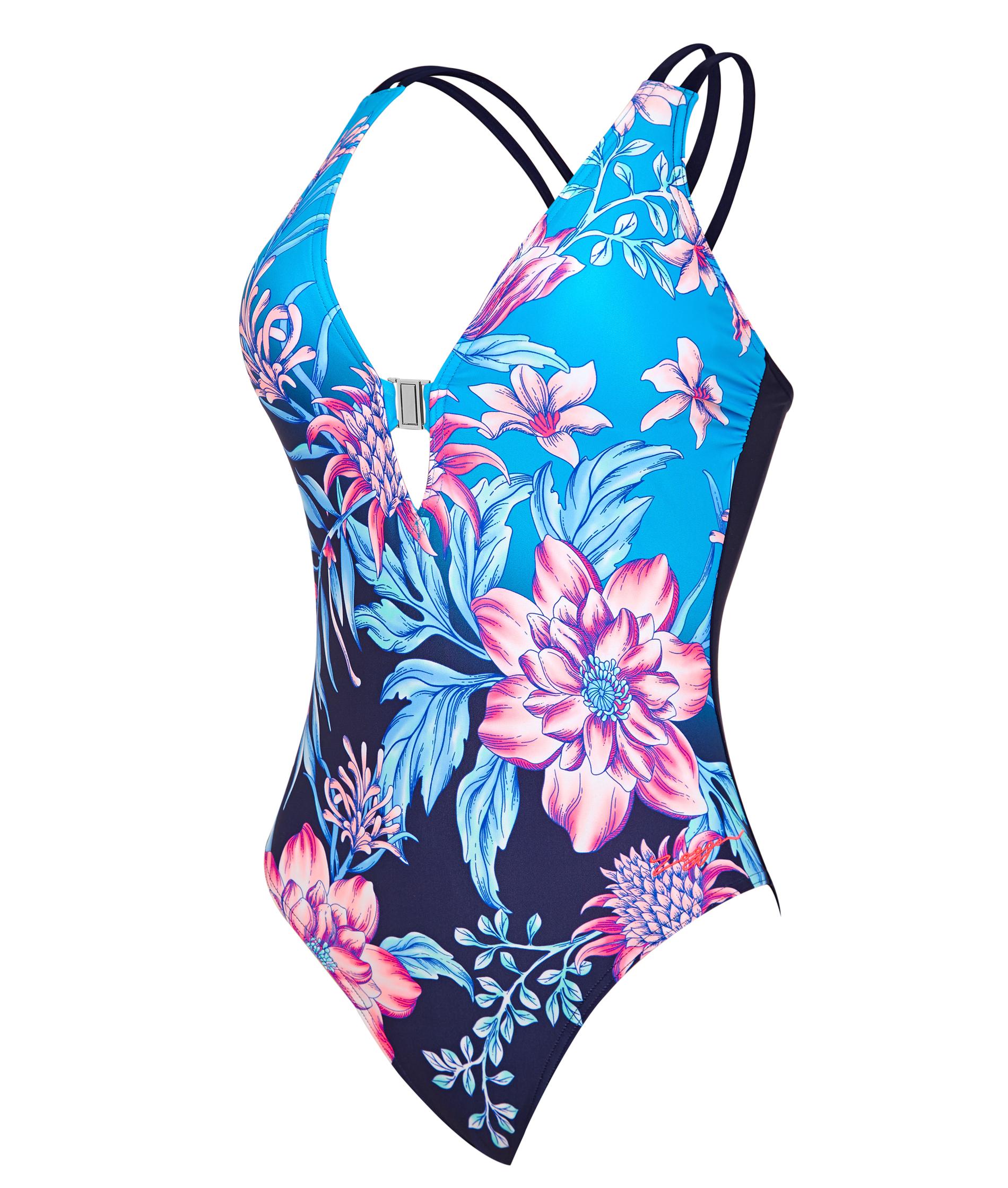 Zoggs Ladies Wild Rose Crossback Swimsuit