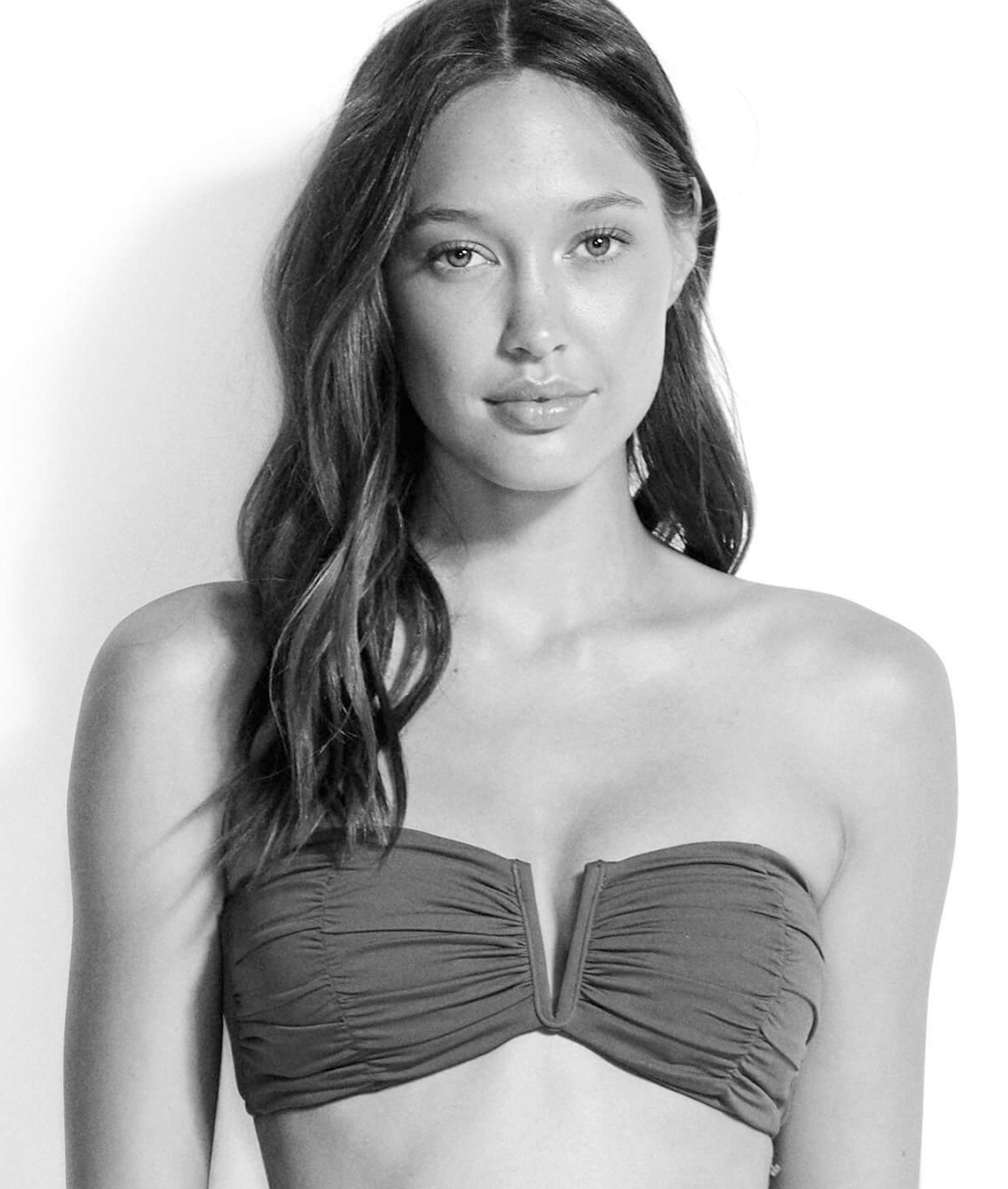 Seafolly Ruched Bandeau Bikini Top - Boysenberry & Indigo