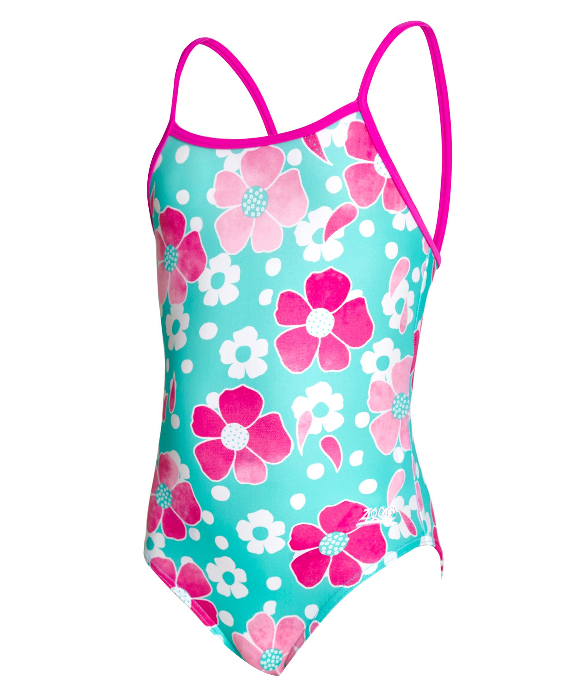 Zoggs Girls Petal Magic Yaroomba Floral Swimsuit