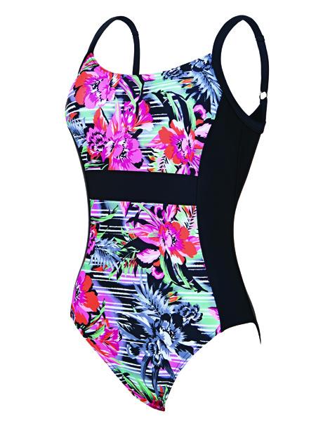 Zoggs Ladies Latino Love Side Panel Swimsuit