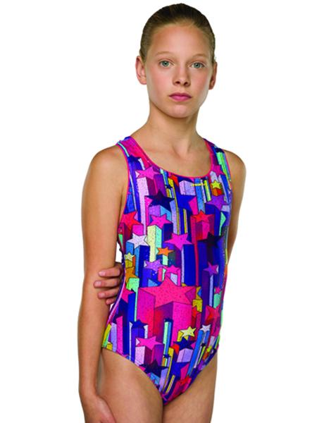 0Maru Girls Stargazer Sparkle Apollo Back Swimsuit