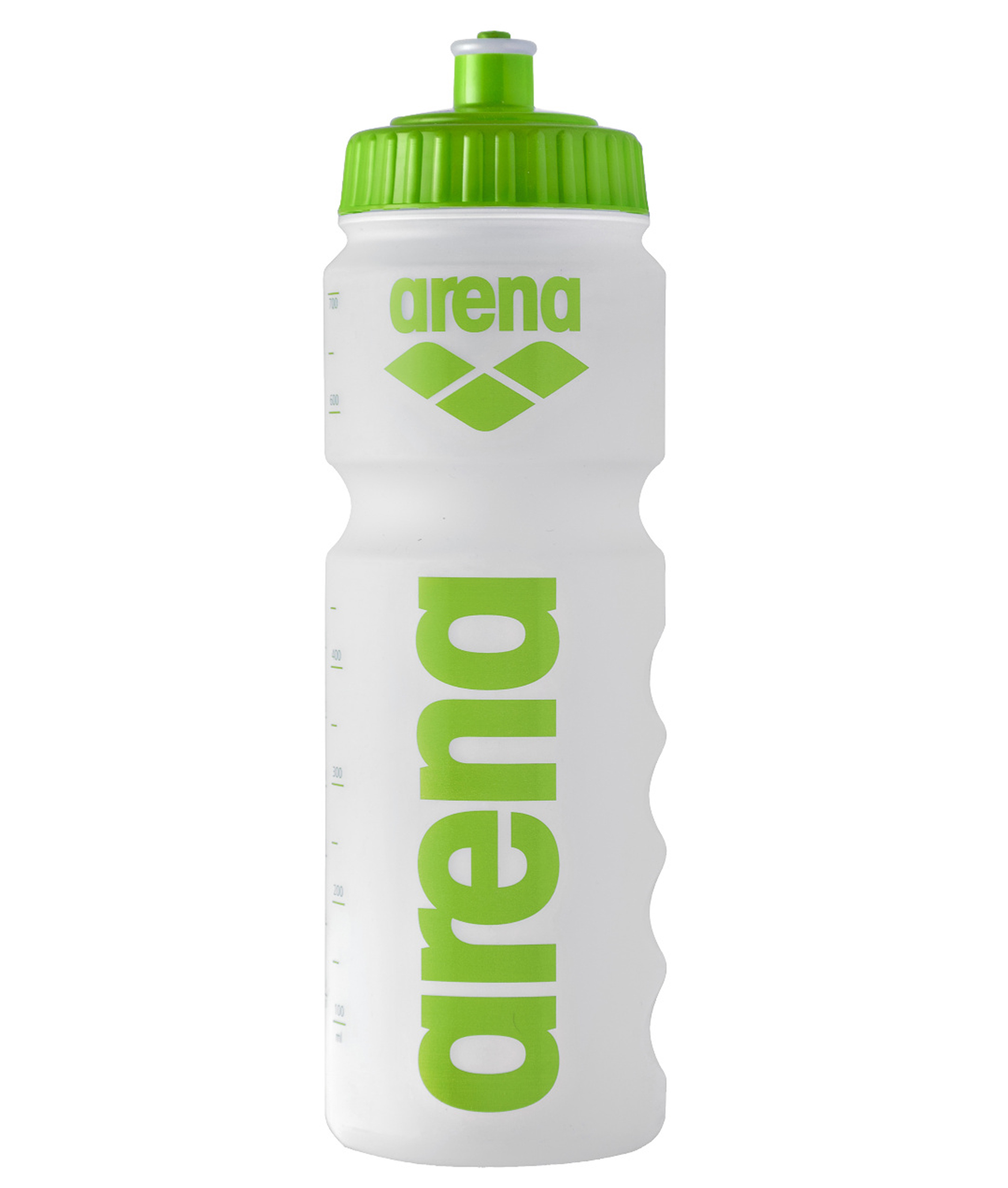 Arena 750ml Water Bottle - Clear/Green