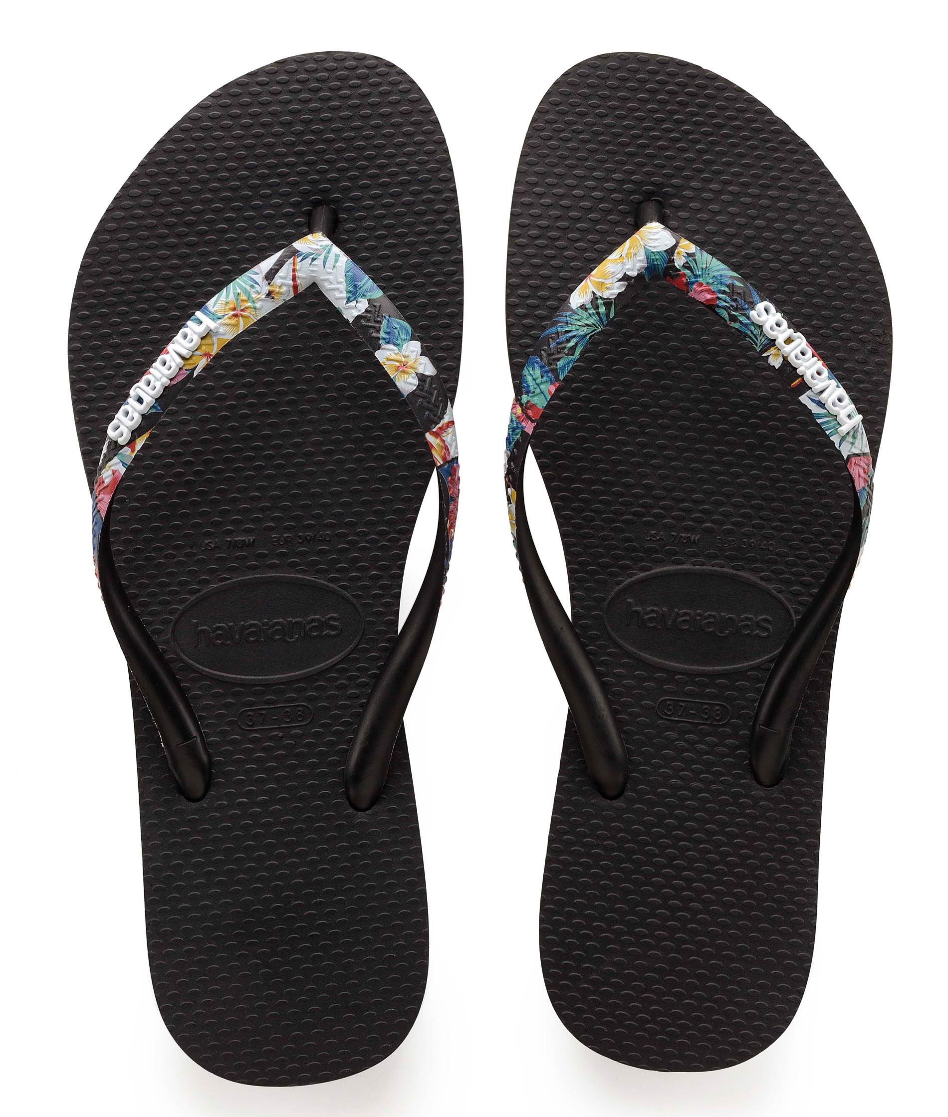 Havaianas Slim Strapped - Black/Multi
