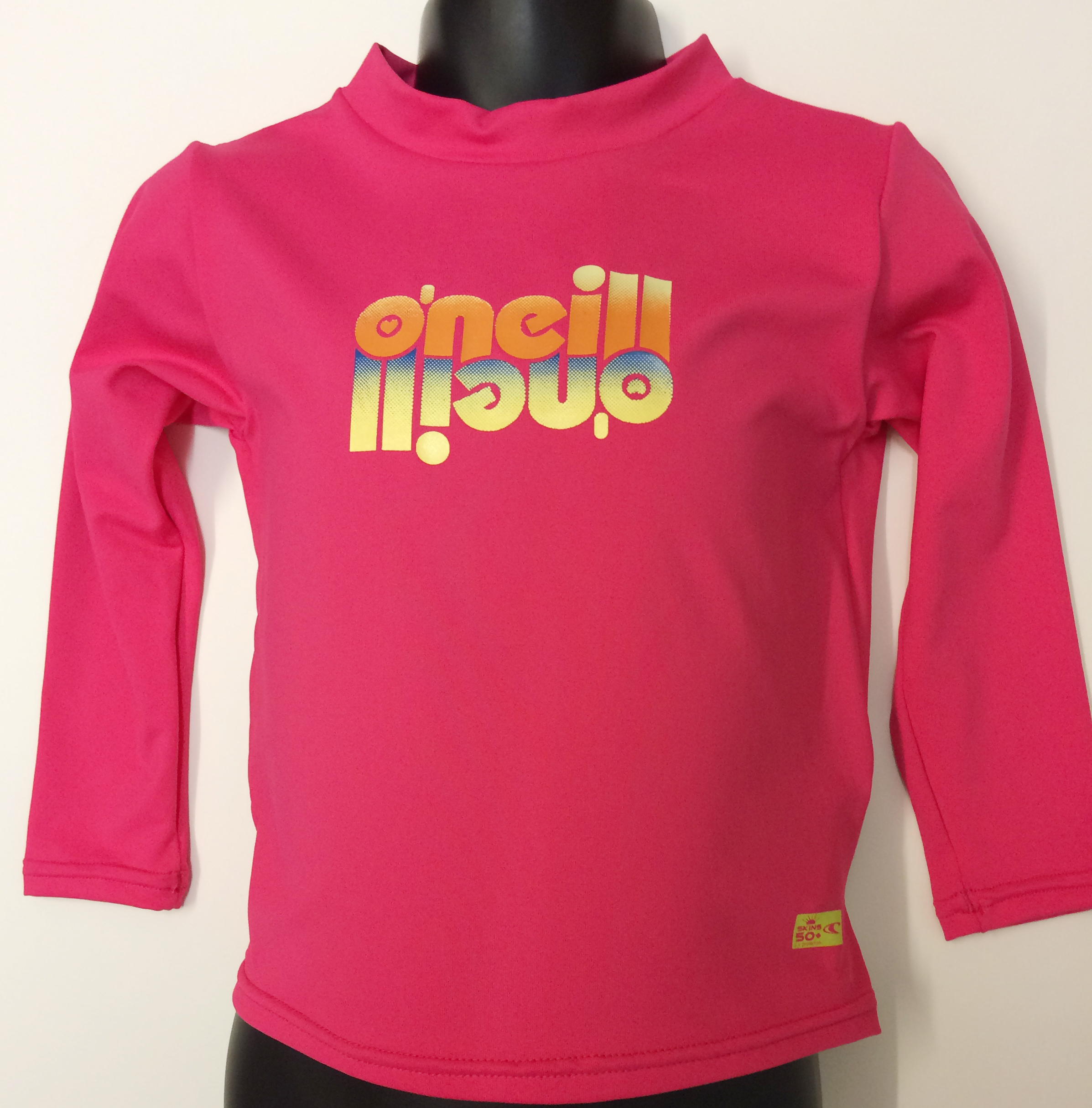 O'Neill Girls Long Sleeve Sun Top - Pink