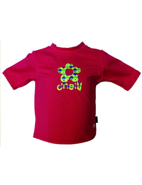 O'Neill Girls Short Sleeve Sun Top - Pink