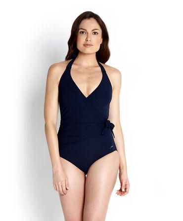 Speedo Ladies Sculpture Simplyglow Swimming Costume - Navy
