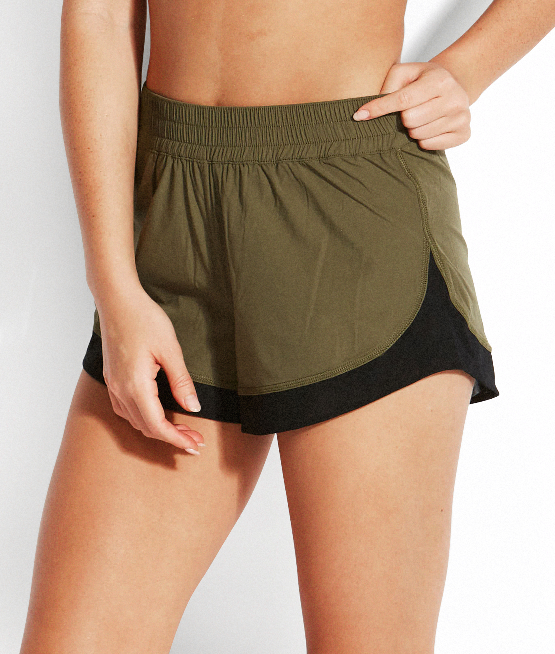 Seafolly Las Palmas Active Board Short - Dark Olive