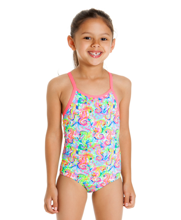 Funkita Toddler Girls Sea Queens Printed One Piece