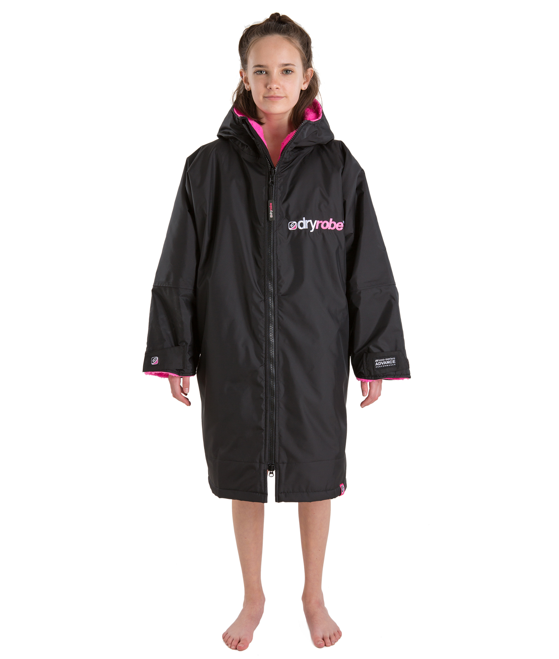 Dryrobe Advance Long Sleeve Black/Pink - Small