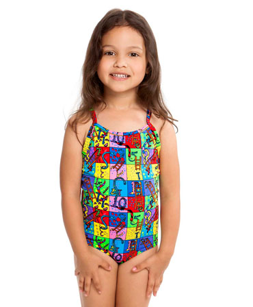 Funkita Toddler Girls Printed One Piece Slippery Snakes