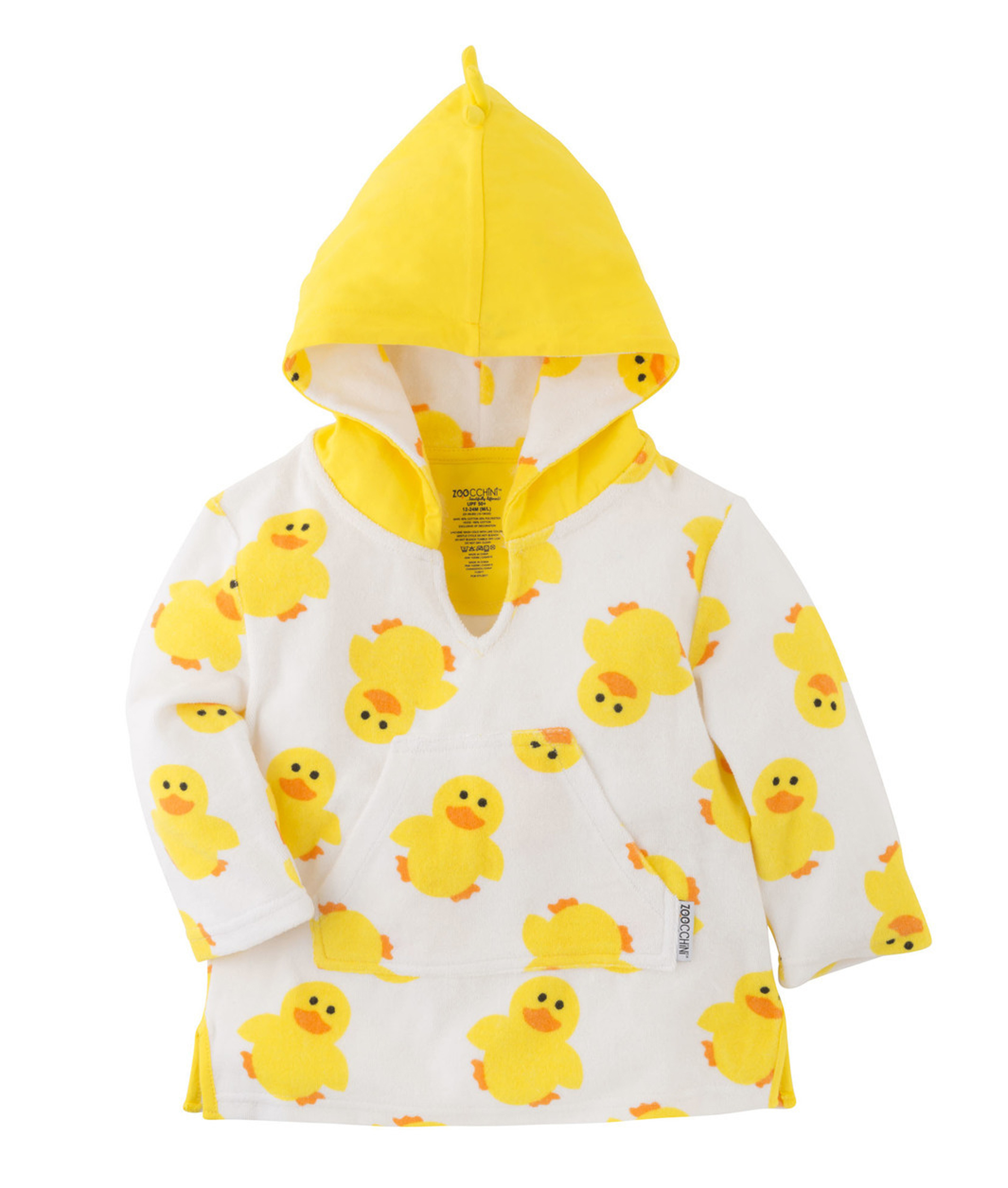 Zoocchini Cotton Babies Cover-Up - Puddles The Duck