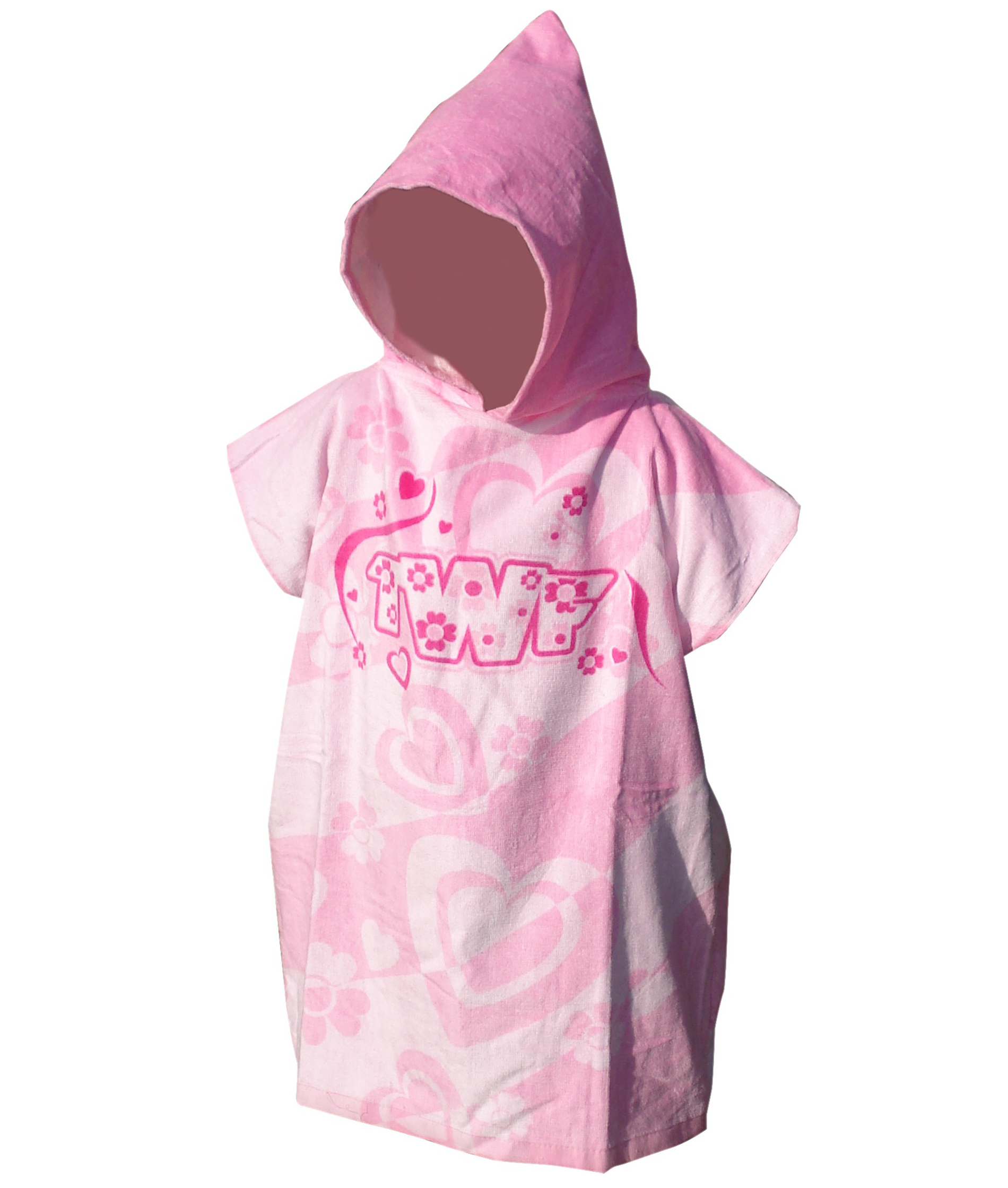 TWF Kids Hooded Towel Poncho - Pink