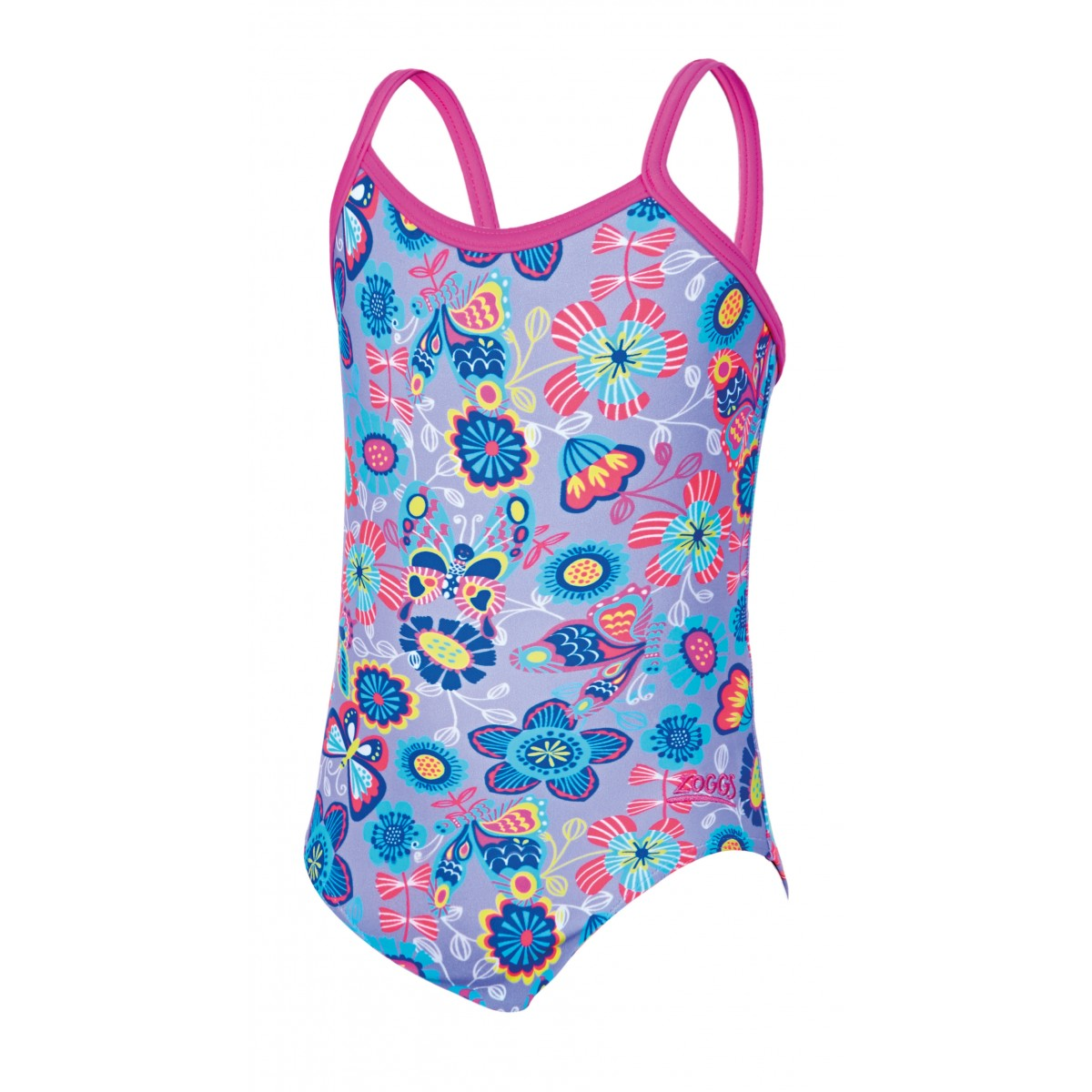 Zoggs Girls Wild Yaroomba Floral Swimsuit