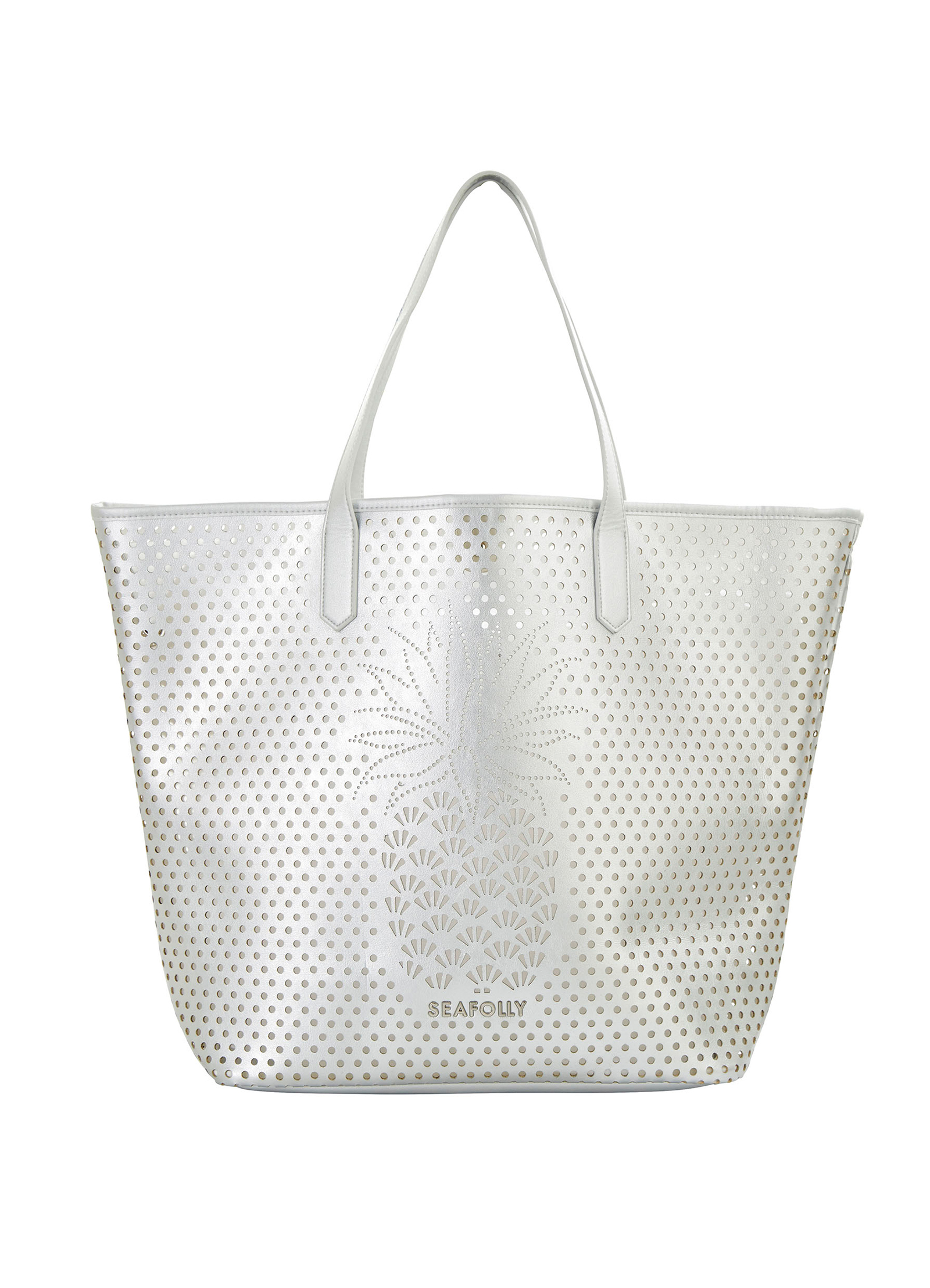 Seafolly Carried Away Pineapple Tote - Silver