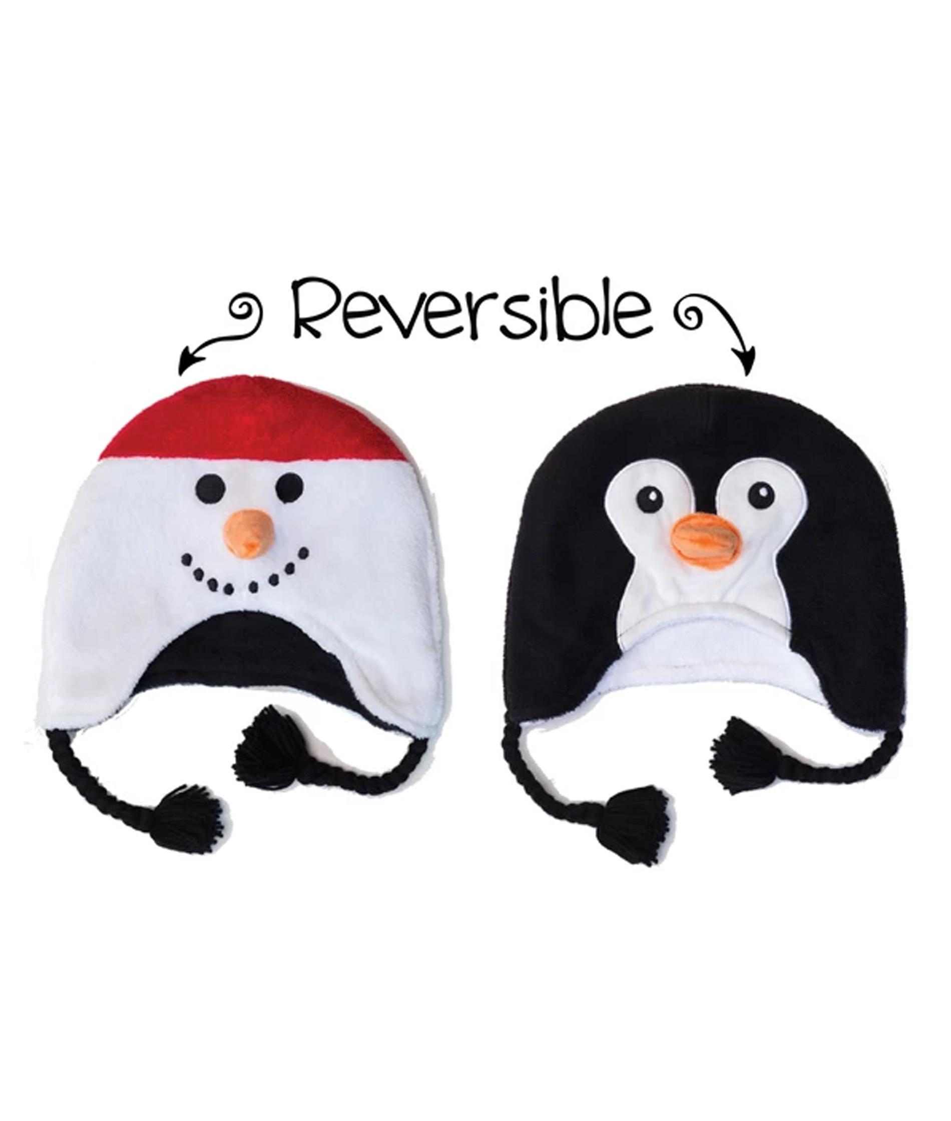 Flapjack Kids Toddler Winter Hat - Snowman/Penguin