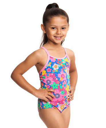Funkita Toddler Girls Printed One Piece Petal Princess