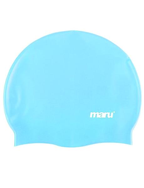 Maru Solid Silicone Swim Cap - Blue