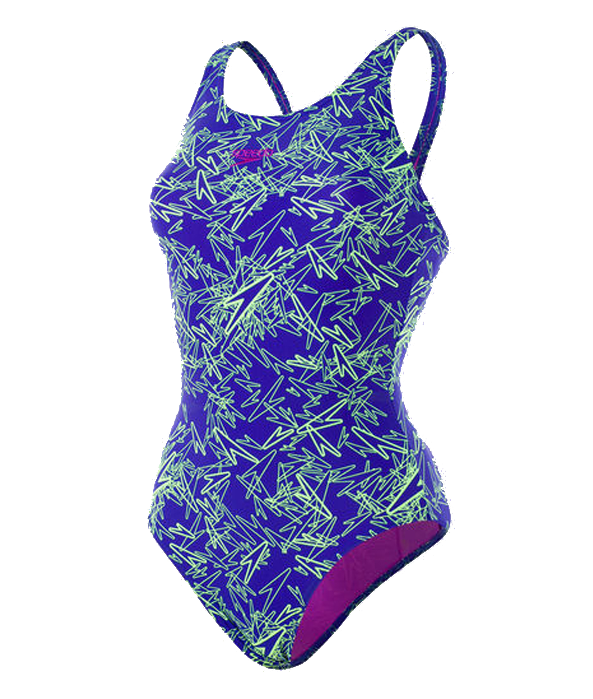 Speedo Boom Allover Muscleback Swimsuit - Blue/Green