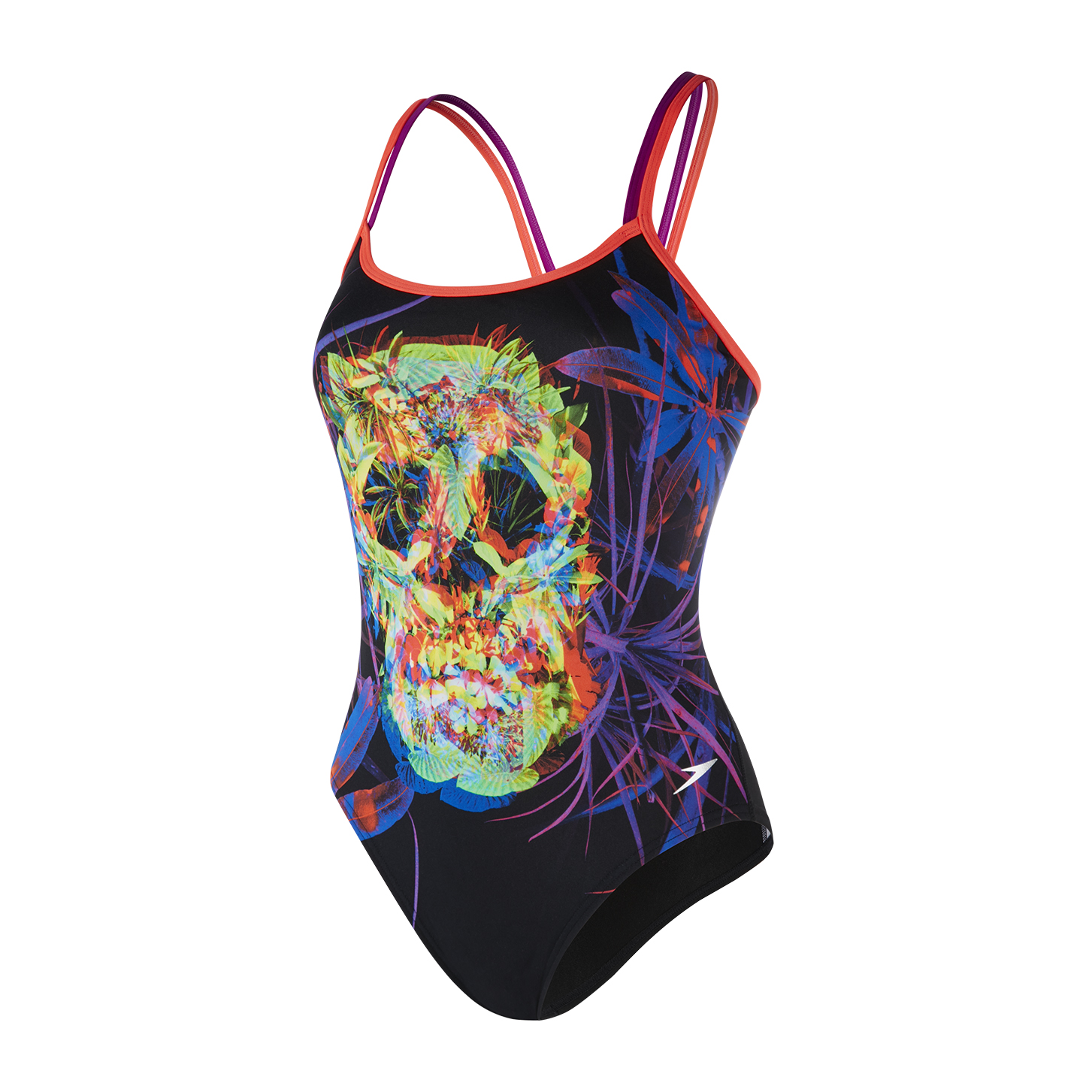 Speedo Flip Turns Psychedelic Fusion Double Crossback Swimsuit