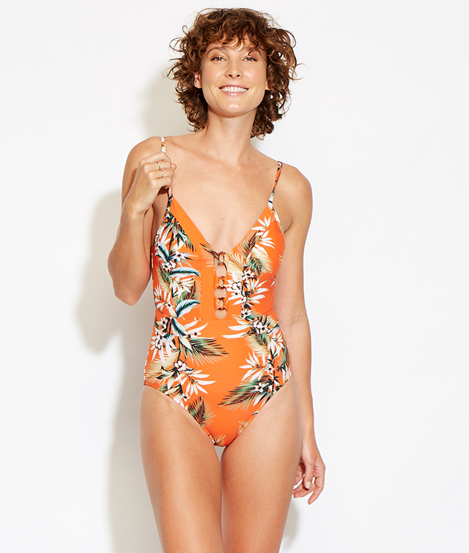Seafolly Ladies Ocean Alley One Piece - Tangelo