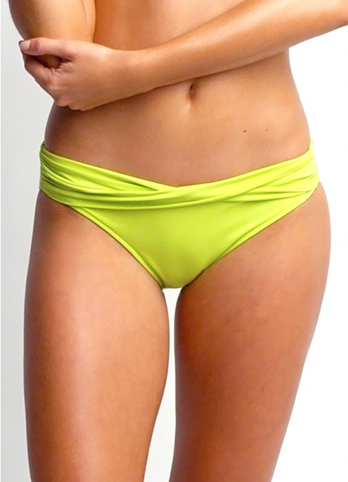 Seafolly Twist Band Hipster Chartreuse