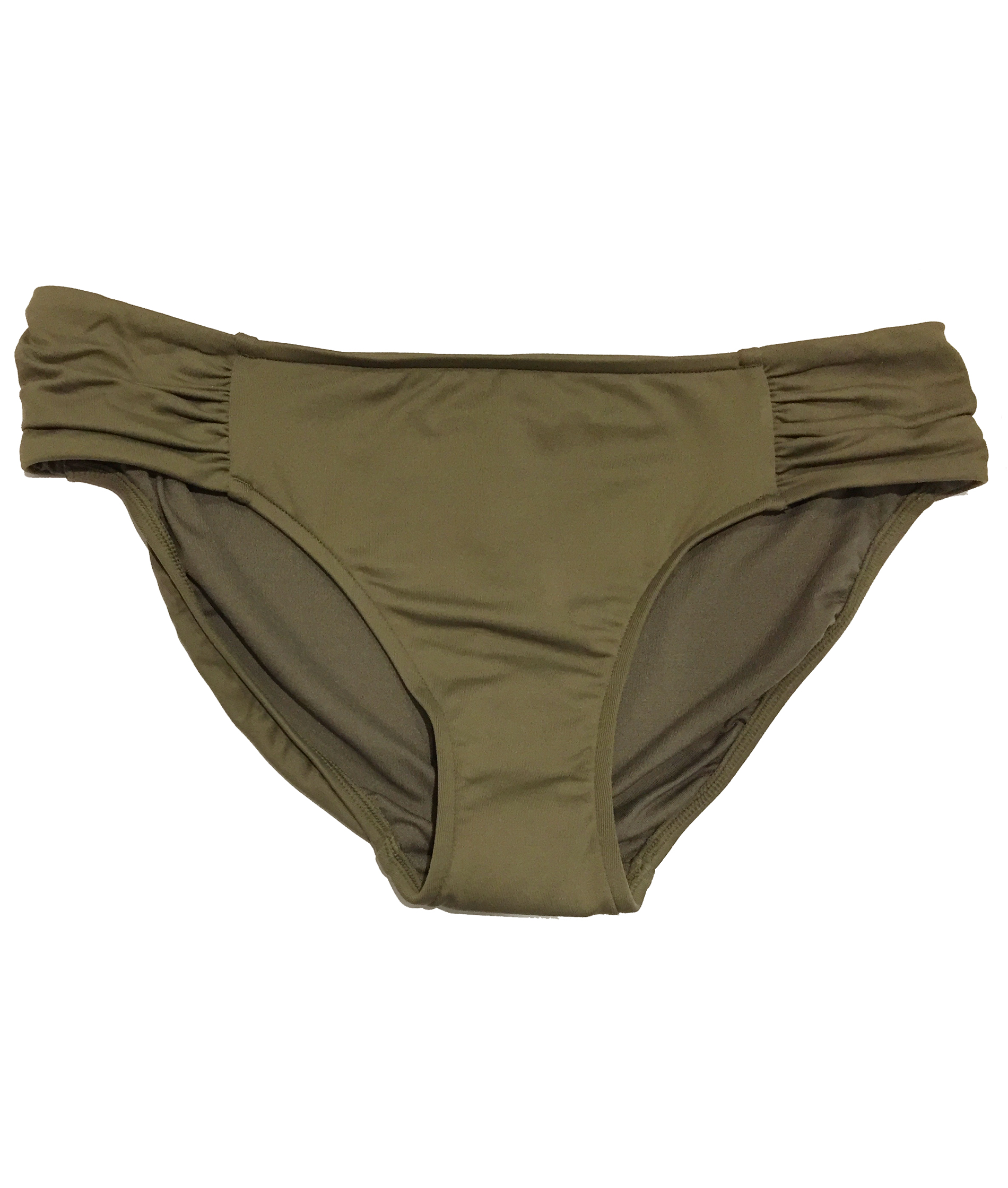 Seafolly Ruched Side Retro Pant - Olive