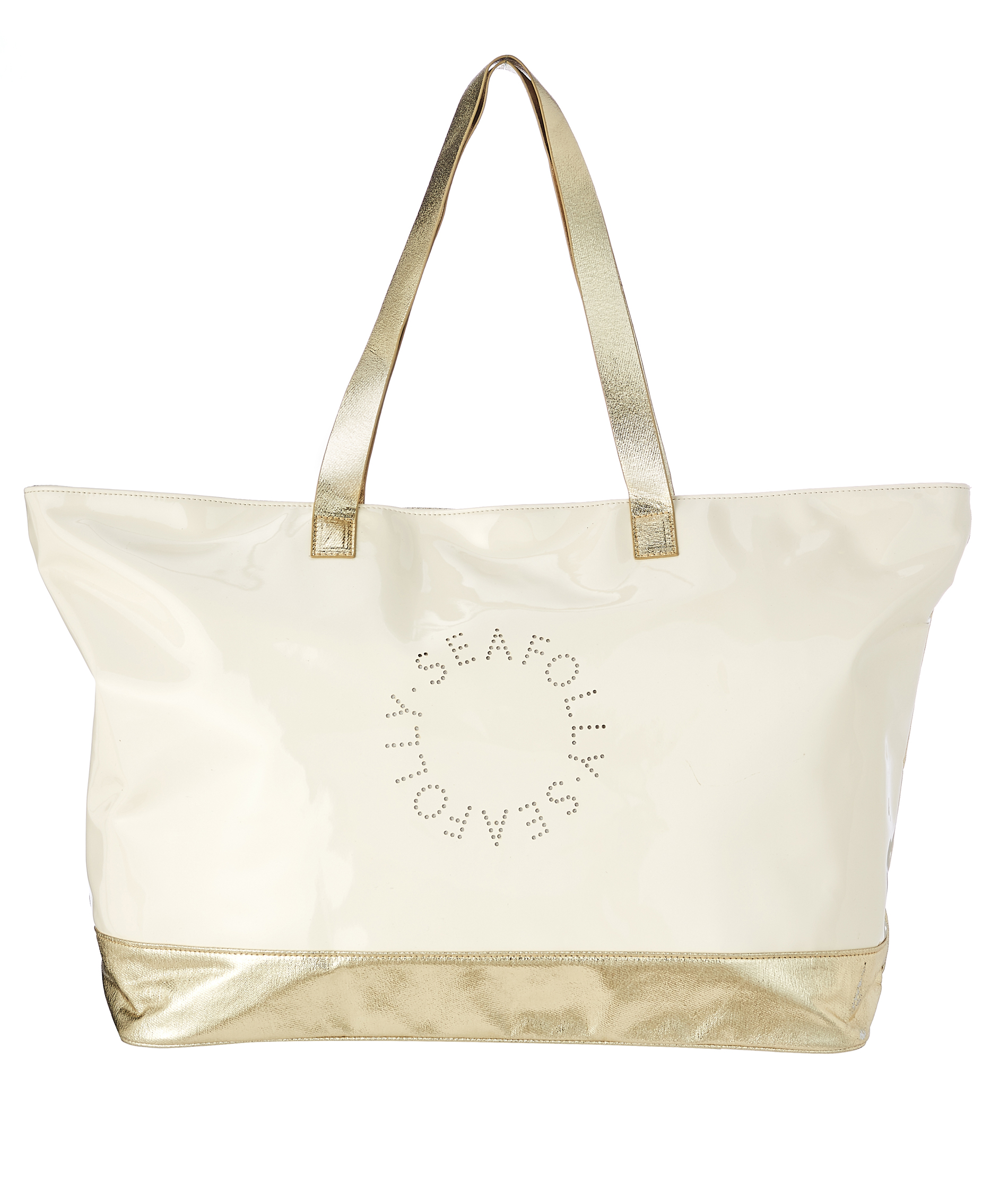 Seafolly Carried Away Perforated Metallic Logo Tote