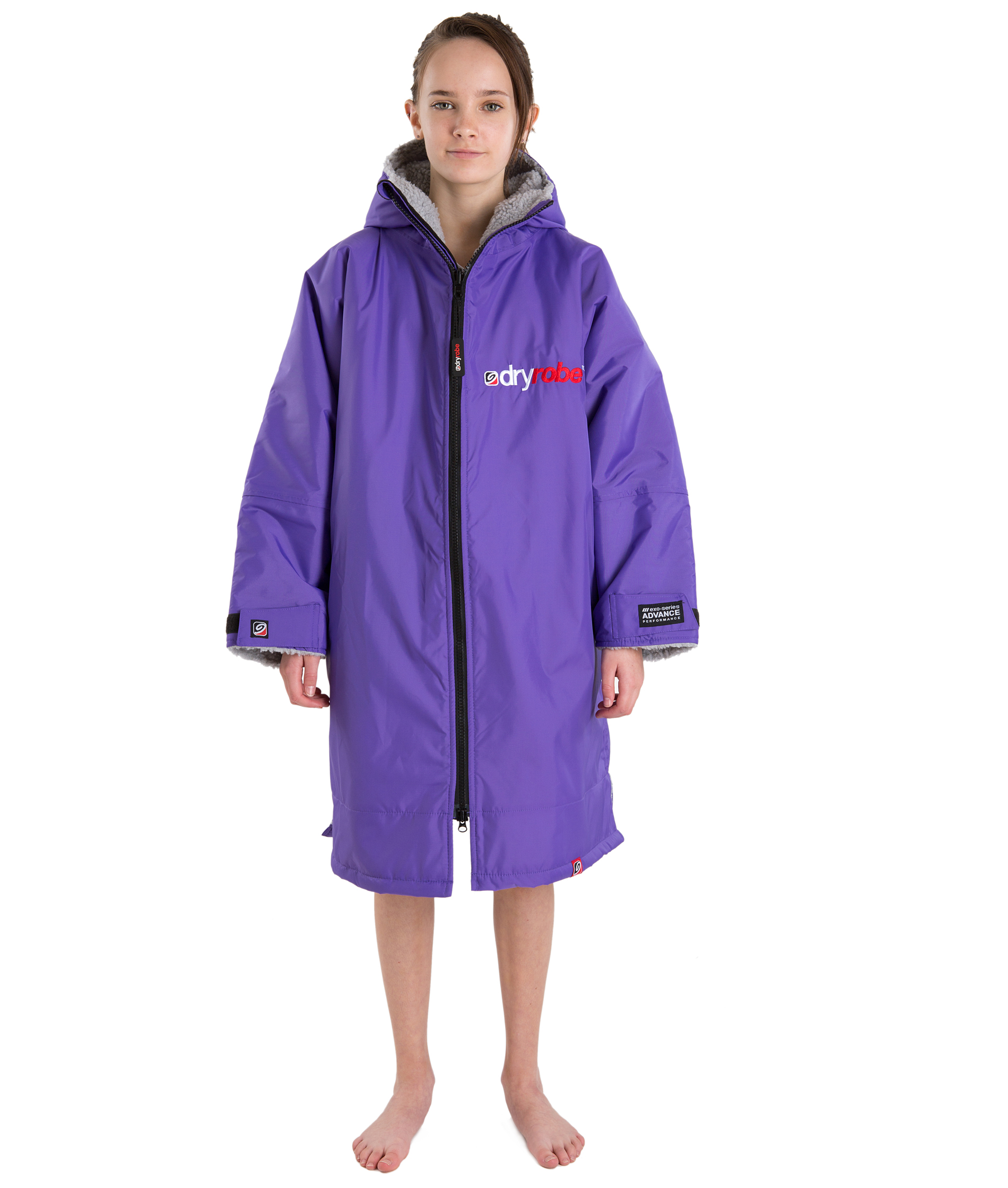 Dryrobe Advance Long Sleeve Purple/Grey - Small