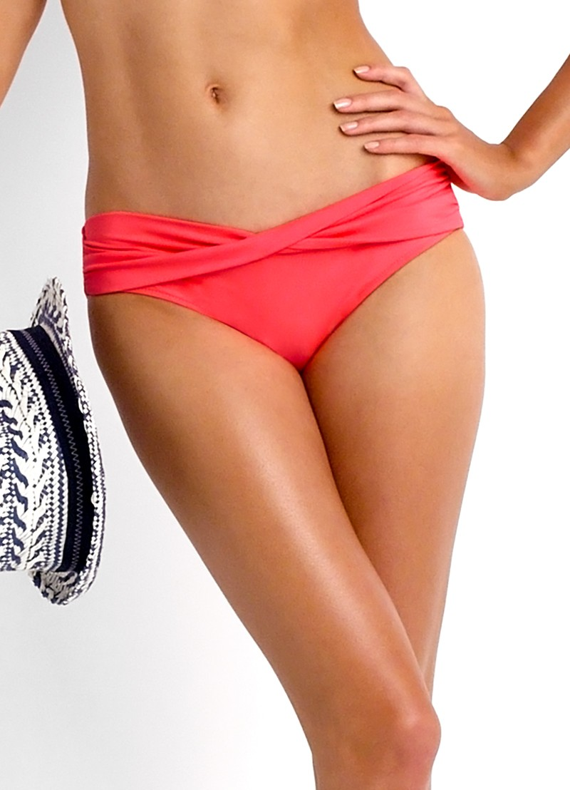 Seafolly Twist Band Hipster - Red Hot
