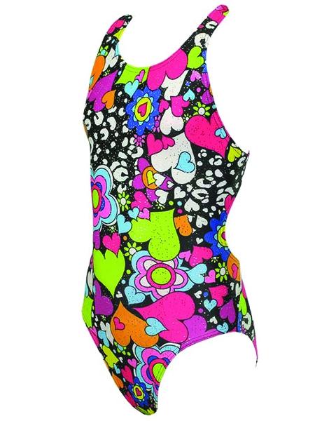 Maru Girls Maru Kaleido Sparkle Rave Back swimming costume