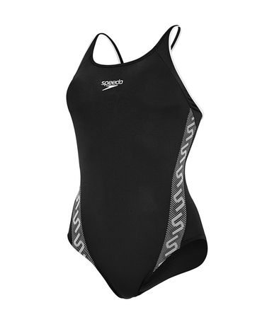 Speedo Ladies Monogram Muscleback Black/White