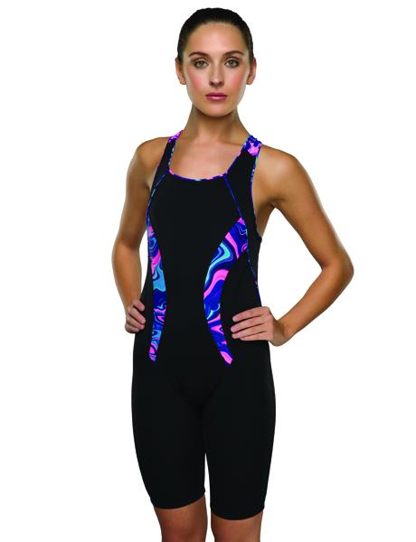 Maru Ladies Galazy Swirl Pacer Panel Legsuit