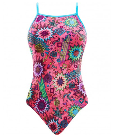 The Finals 'Funnies' Girls Dynamite Foil Flutter Back Swimsuit