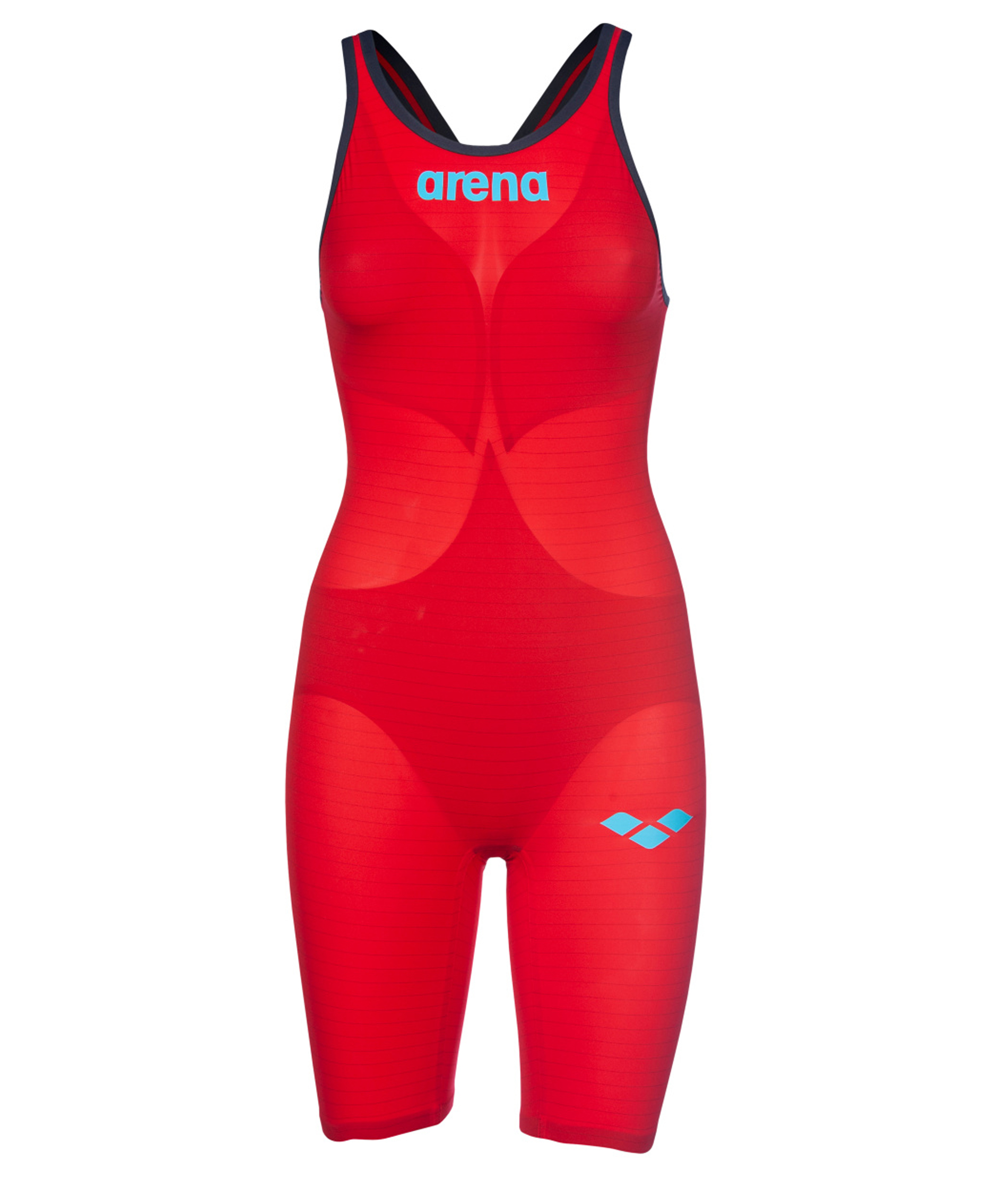 Arena Womens Carbon Air2 Open Back Kneeskin - Red/Blue