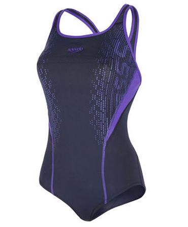 Speedo Fit Ladies Kickback Costume - Navy/Purple