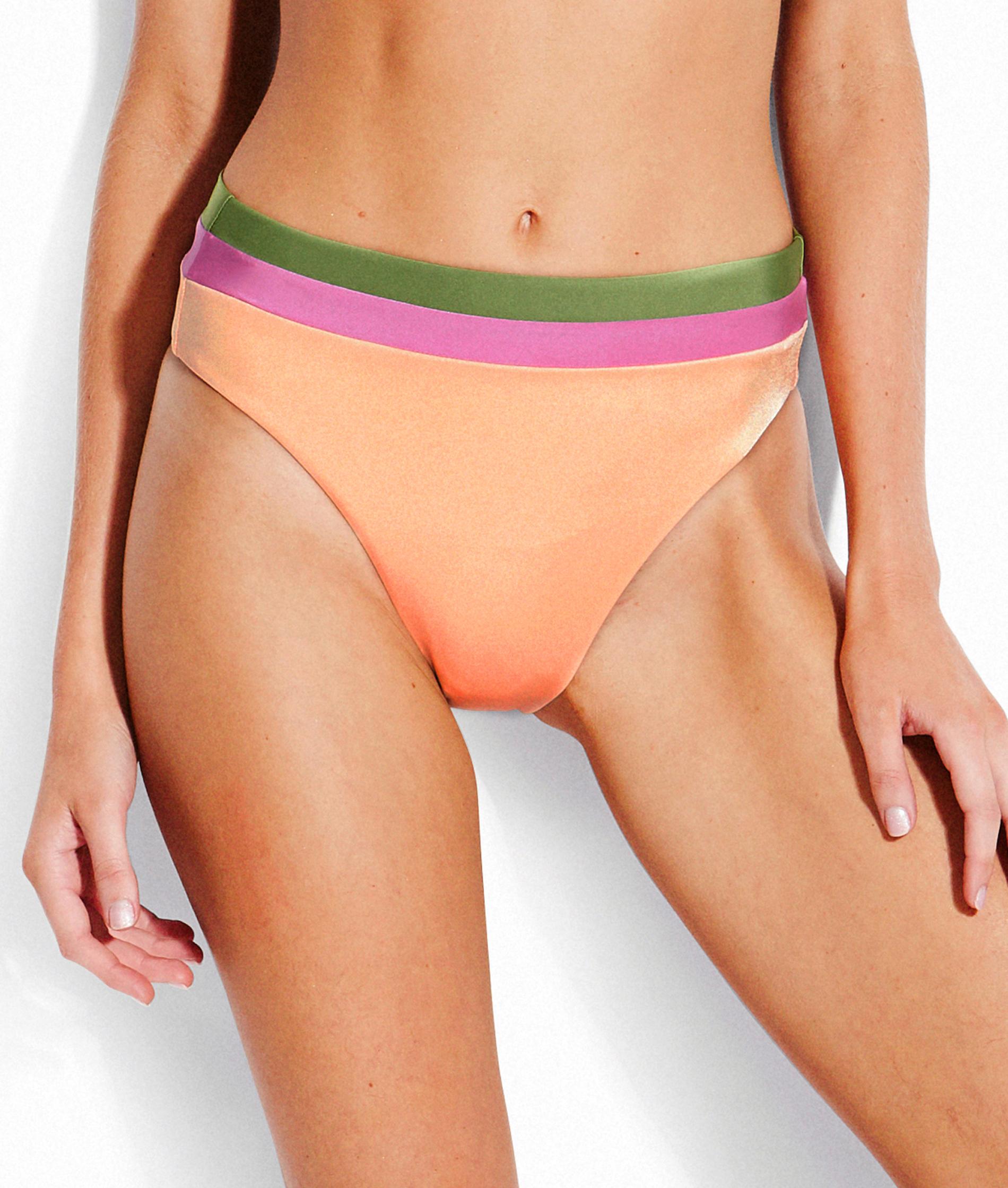 Seafolly Las Palmas Hi Rise Bikini Pant - Peach