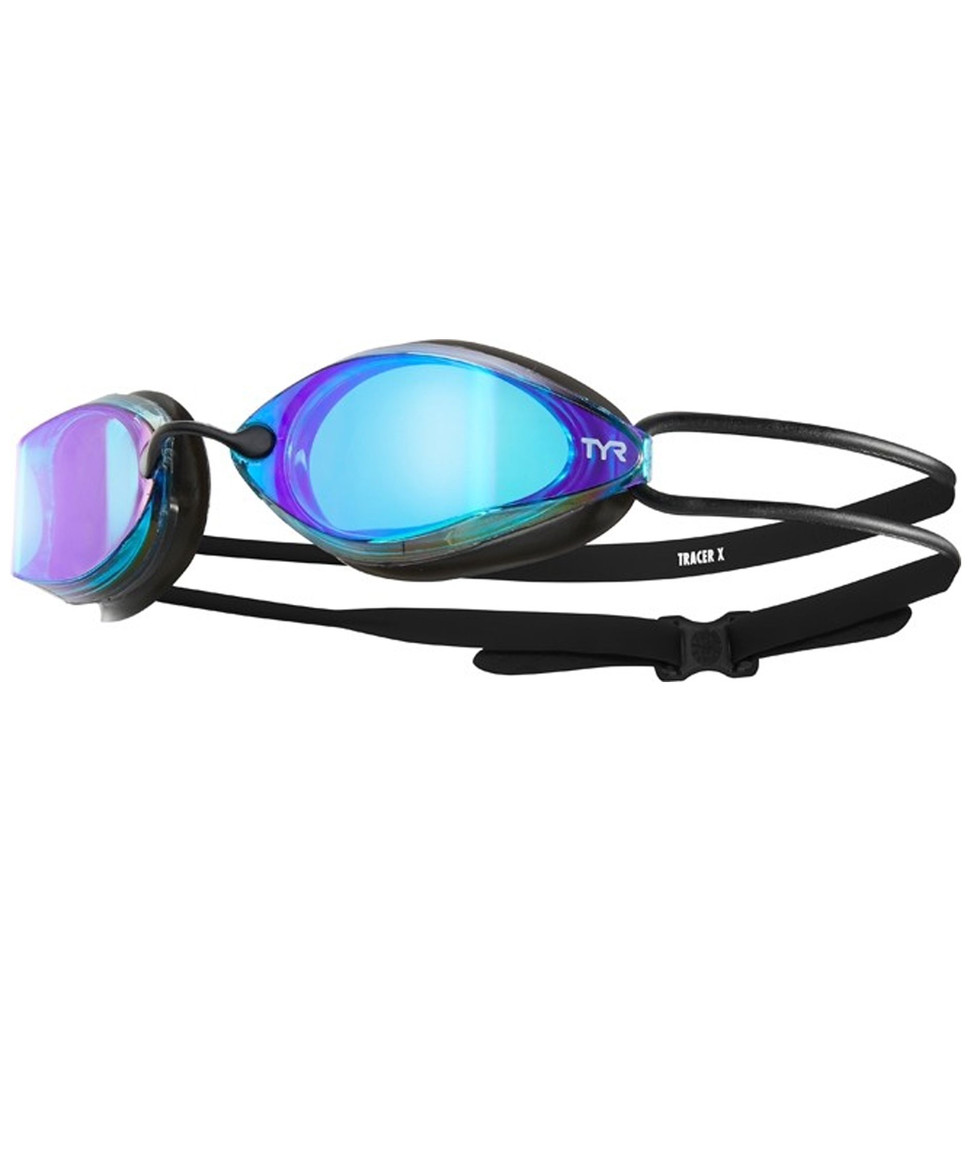 TYR Tracer-X Racing Mirrored Adult Goggles - Blue/Black