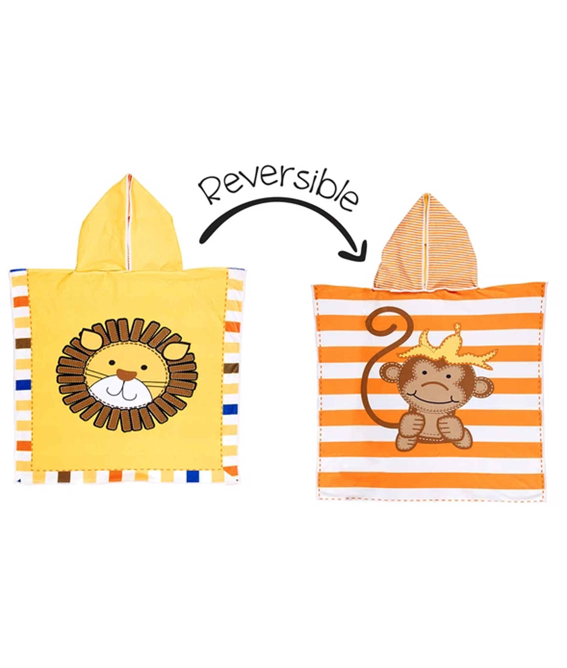 Flapjack Kids Reversible Cover-Ups - Lion/Monkey
